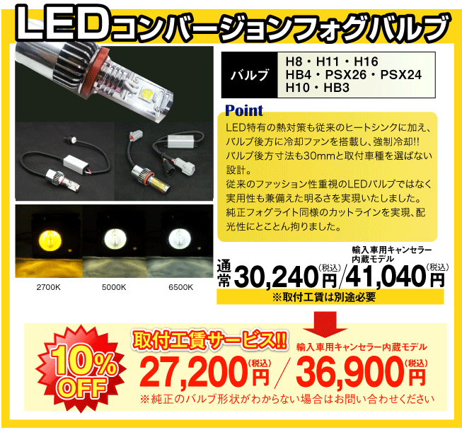 LEDコンバージョンフォグランプ